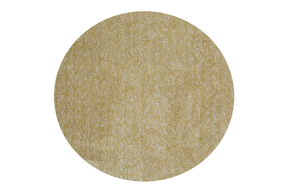 72 Inch Round Rug-Elation Shag Heather Yellow