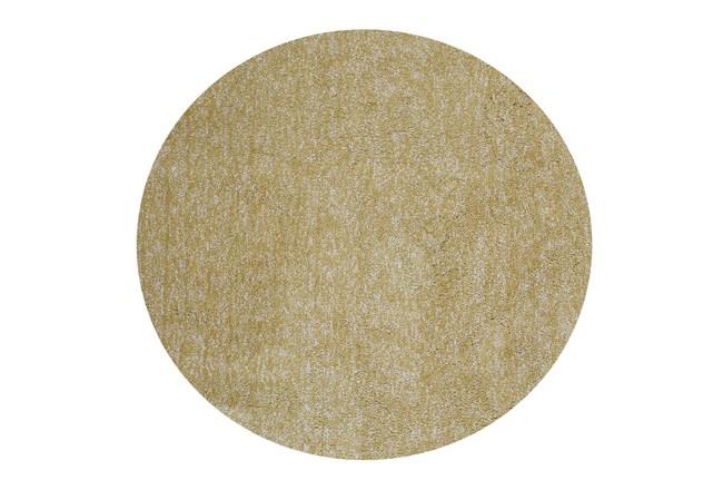 72 Inch Round Rug-Elation Shag Heather Yellow - 360