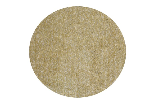 96 Inch Round Rug-Elation Shag Heather Yellow - 360