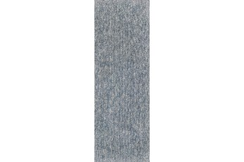 27X90 Runner Rug-Elation Shag Heather Slate
