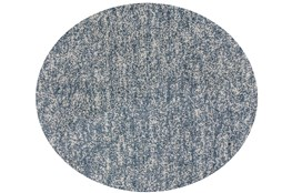 96 Inch Round Rug-Elation Shag Heather Slate