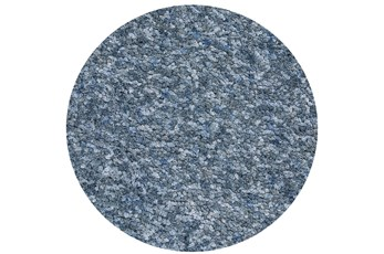 72 Inch Round Rug-Velardi Denim Heather Shag
