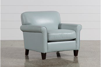 Phoebe Blue Leather Chair