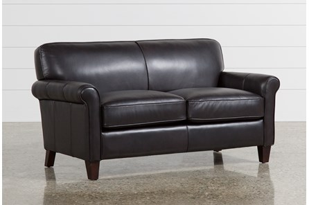 Phoebe Brown Leather Loveseat