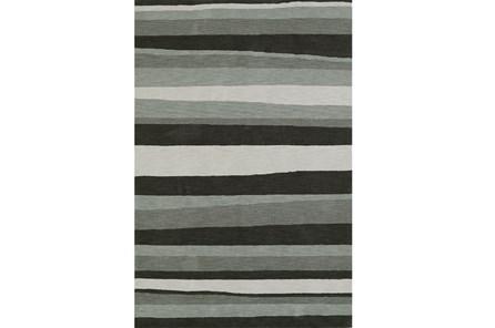 96X120 Rug-Charcoal Waves