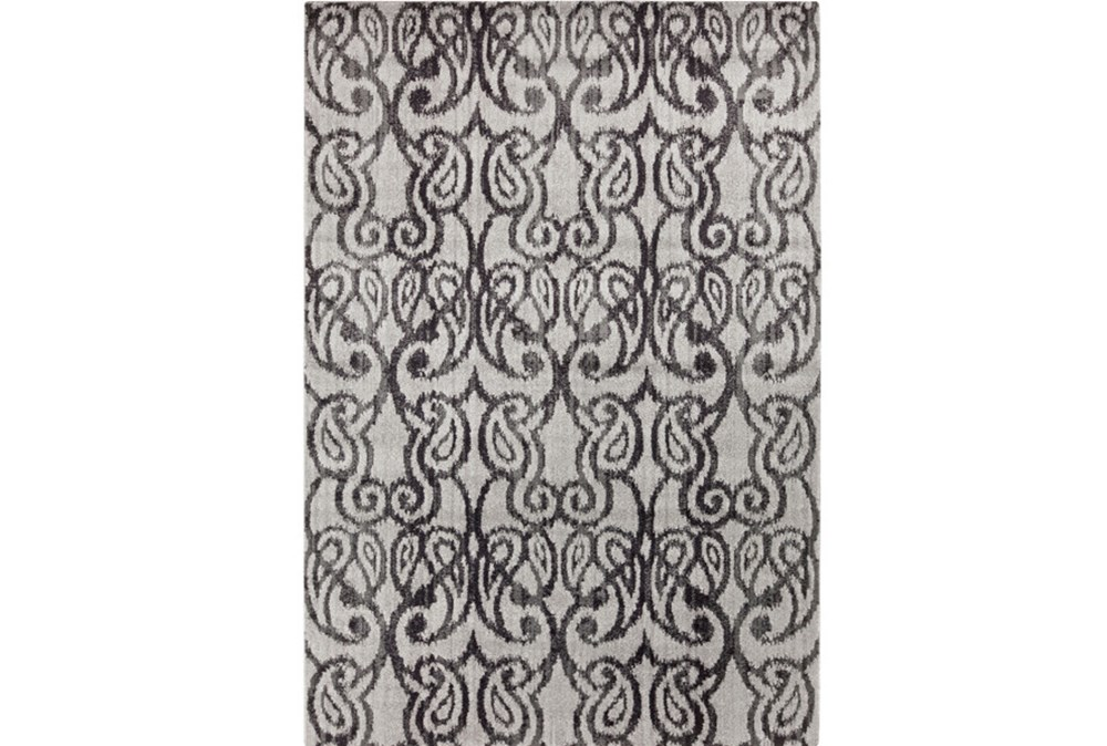 90X126 Rug-Ketton Charcoal Paisley