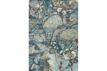 62X90 Rug-Ketton Abstract Teal/Lime/Grey