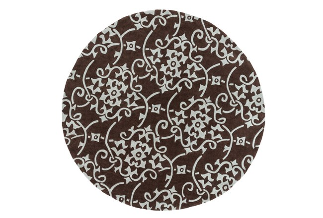 96 Inch Round Rug-Colleen Brown - 360