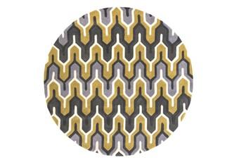 96 Inch Round Rug-Marsha Gold/Charcoal