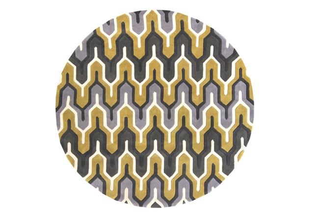 96 Inch Round Rug-Marsha Gold/Charcoal - 360