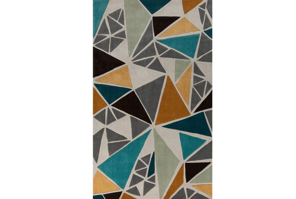 60X96 Rug-Trinity Grey/Gold/Teal