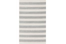 60X96 Rug-Rugby Light Grey/White