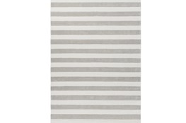 96X132 Rug-Rugby Light Grey/White