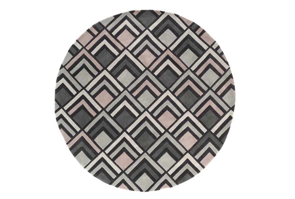 96 Inch Round Rug-Ahi Charcoal