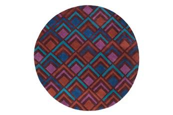 96 Inch Round Rug-Ahi Burgundy