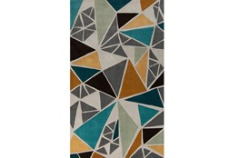 108X156 Rug-Trinity Grey/Gold/Teal