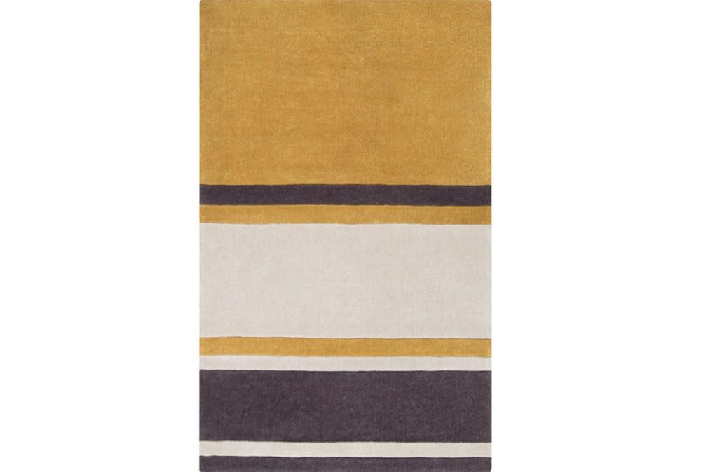 60X96 Rug-Benjamin Stripe Gold/Charcoal