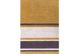 96X132 Rug-Benjamin Stripe Gold/Charcoal