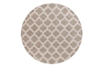 96 Inch Round Rug-Ariel Grey