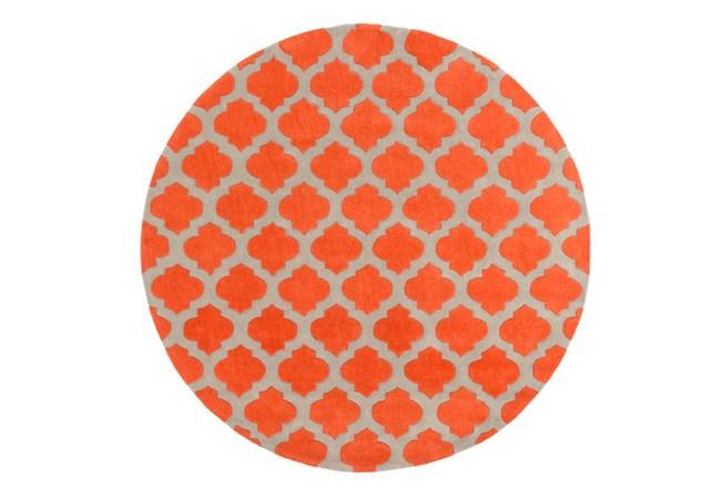 96 Inch Round Rug-Ariel Poppy - 360