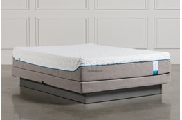 Tempur-Pedic Cloud Supreme Queen Mattress W/Low Profile Foundation