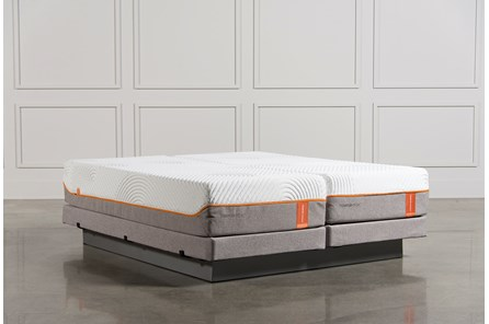 Tempur-Pedic Contour Rhapsody Luxe Cal King Split Mattresses W/Low Foundation