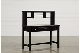 Summit Black Desk/Hutch