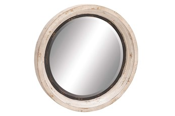 Mirror-White Wash Circle 35X35