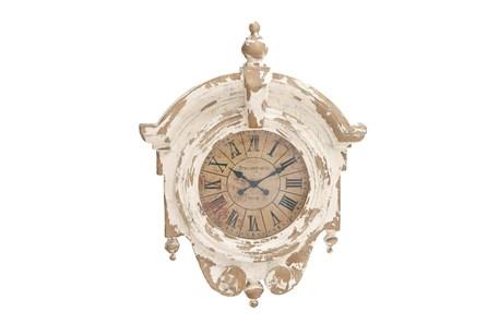 44 Inch White Antique Clock