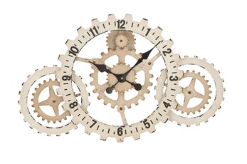 20 Inch White Gear Clock