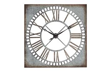 36 Inch Aged Metal Roman Clock