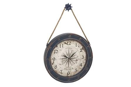 37 Inch Blue Nautical Clock