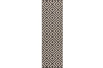 27X93 Rug-Hortensia Black