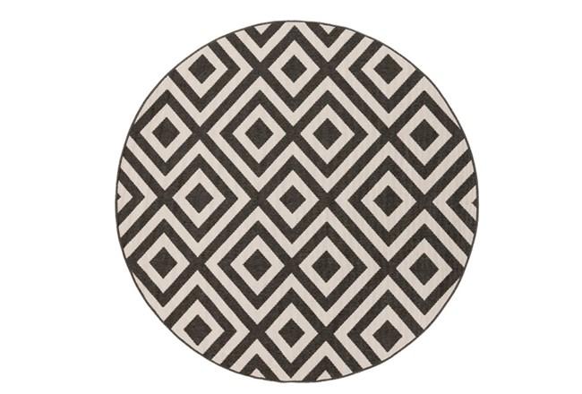 87 Inch Round Rug-Hortensia Black - 360