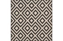 87X87 Square Rug-Hortensia Black
