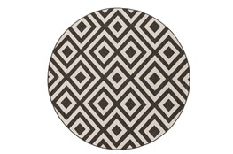 105 Inch Round Rug-Hortensia Black