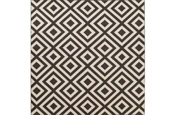 105X105 Square Rug-Hortensia Black