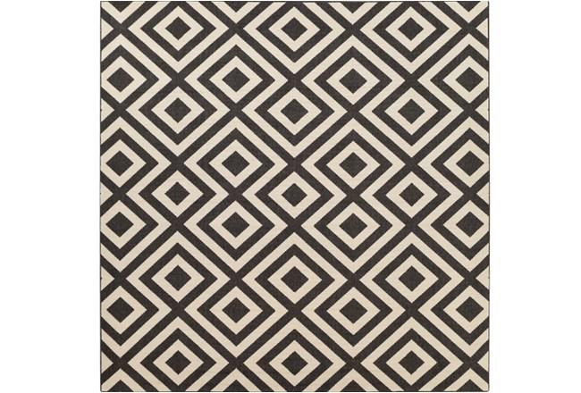 105X105 Square Rug-Hortensia Black - 360