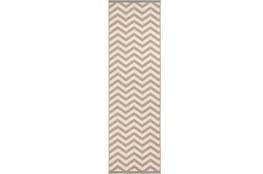 27X141 Rug-Tendu Chevron Grey