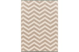 90X129 Rug-Tendu Chevron Grey
