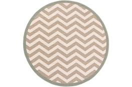 105 Inch Round Rug-Tendu Chevron Grey