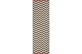27X141 Rug-Tendu Chevron Black