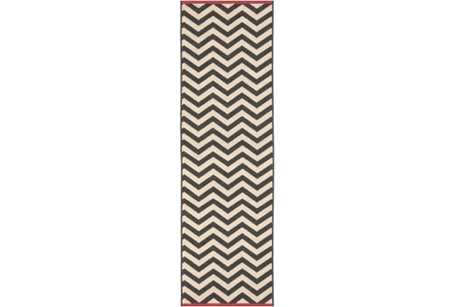 27X93 Rug-Tendu Chevron Black - 360