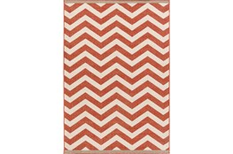 42X66 Rug-Tendu Chevron Red