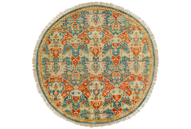 96 Inch Round Rug-Andreas Antique - 360