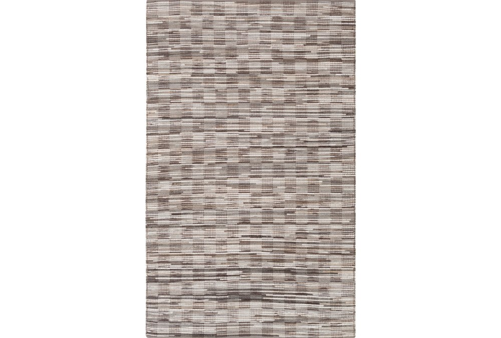 60X90 Rug-Chequers Grey/Chocolate