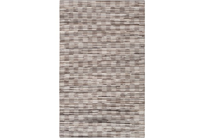 60X90 Rug-Chequers Grey/Chocolate - 360