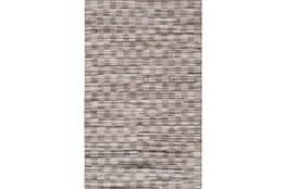 96X120 Rug-Chequers Grey/Chocolate
