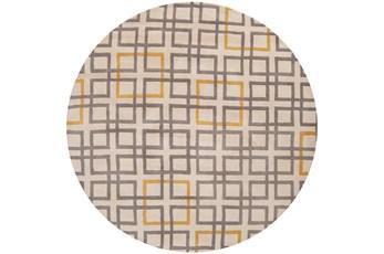 96 Inch Round Rug-Platz Grey/Gold
