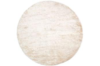 96 Inch Round Rug-Bichon Ivory